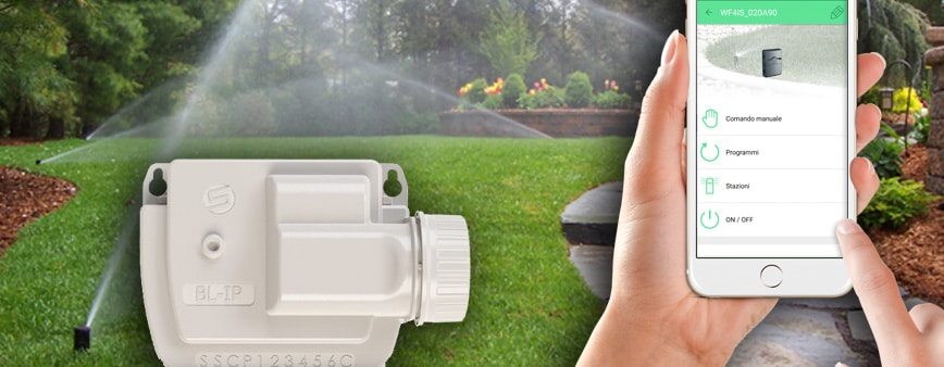 centralina irrigazione batteria smartphone