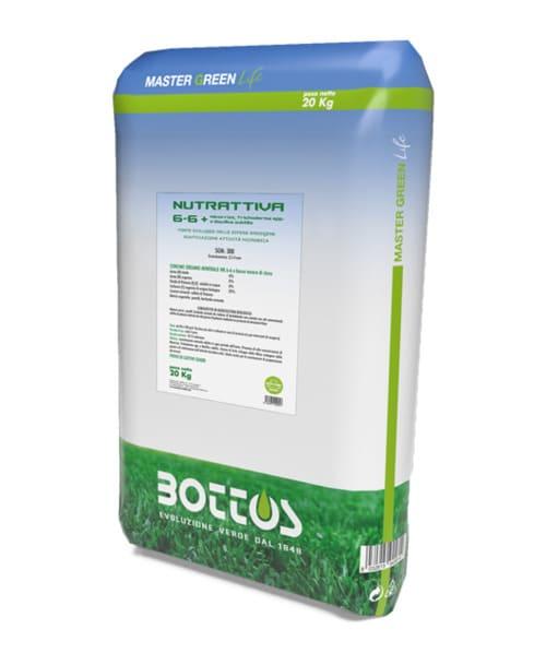 Bioattivante per prato Bottos Master Green Life NUTRATTIVA 6-2-6 + micorrize, Trichoderma spp. e bacillus subtilis