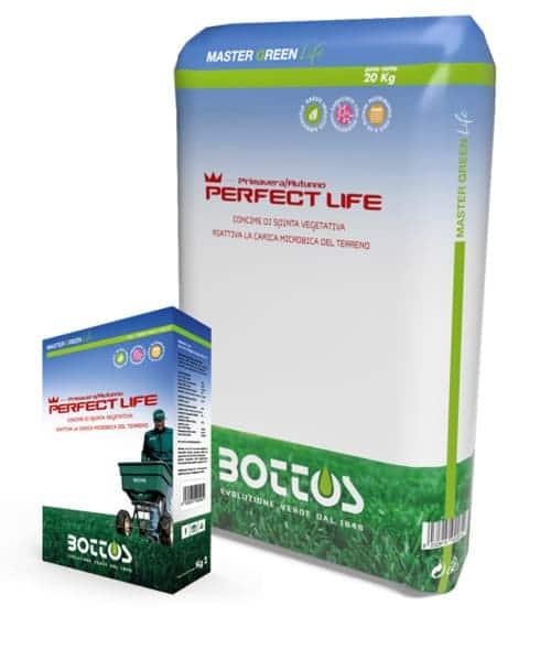 Concime per prato Bottos Master Green Life PERFECT LIFE 18-5-10 + 2 MgO + 0,5 Fe + Mn + Zn