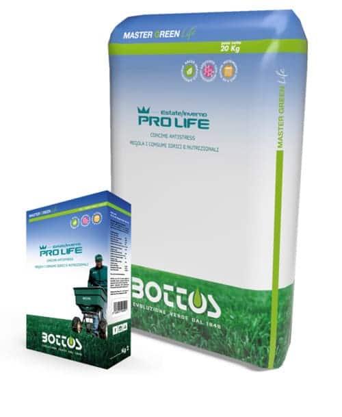 Concime per prato Bottos Master Green Life PRO LIFE 10-5-15 + 2 MgO + 0,5 Fe + Mn + Zn
